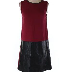 Faux Leather Detail Dress sz